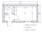 Планировка бытовки или небольшого каркасного дома