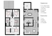 Общий план каркасного дома