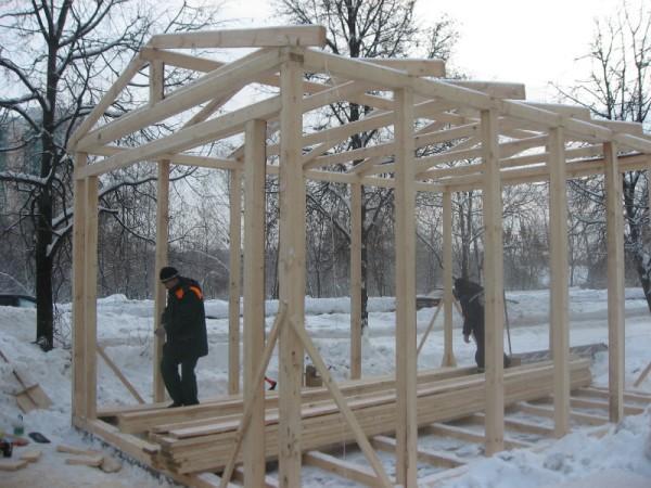 Строим деревянный гараж своими руками фото