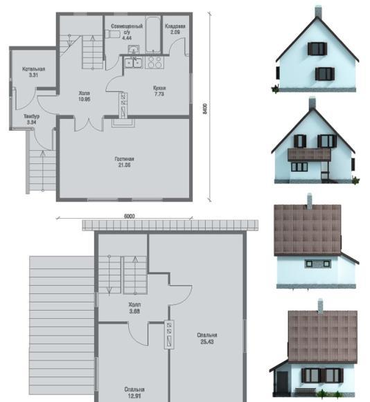 Проекты домов с простыми планировками уменьшают общую стоимость