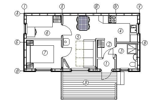 План проекта каркасного дома КД-33