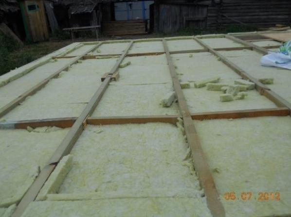 Утепление: базальтовые плиты
