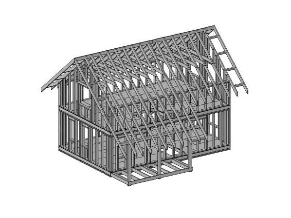Схема каркасного дома КД-95