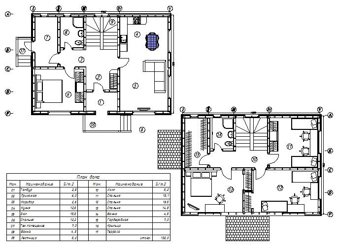 План каркасного дома Лаас-КД-132