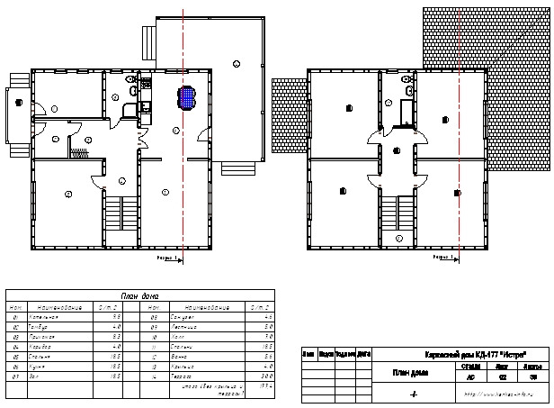 План каркасного дома Истра (КД-177)