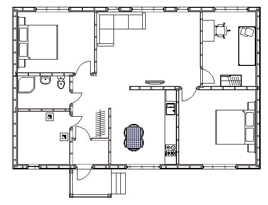 План каркасного дома Ховаярви (КД-94)