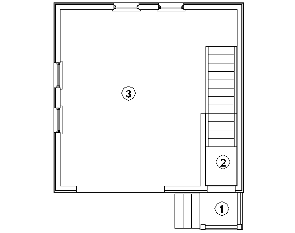 План первого этажа каркасного гаража Орегон (КГ-61)