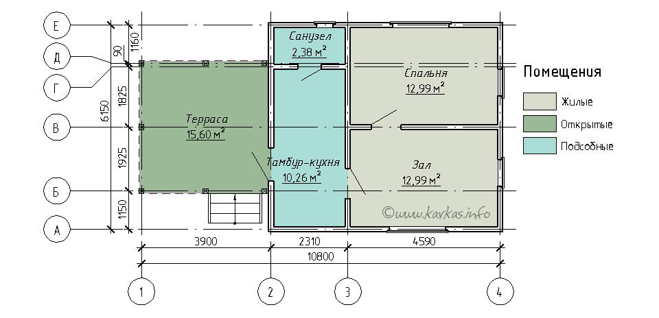 План каркасного дома Юта 40