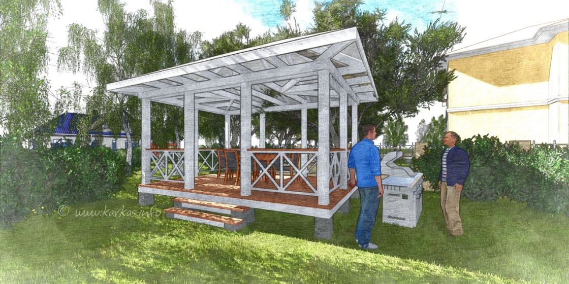 Gostevaja Rectangle Gazebo