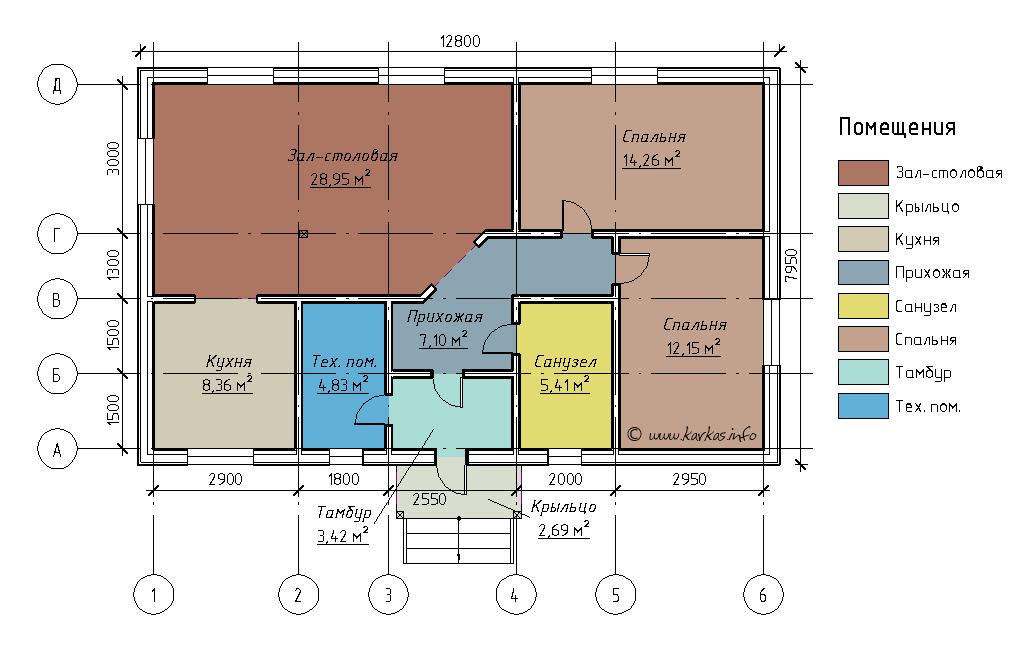 План каркасного дома Теннесси 79