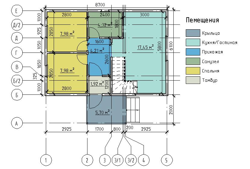 План первого этажа проекта Дарина 67