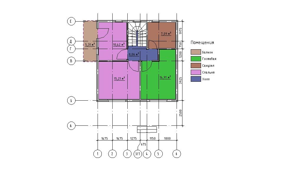 План мансарды каркасного дома Мерилэнд 108