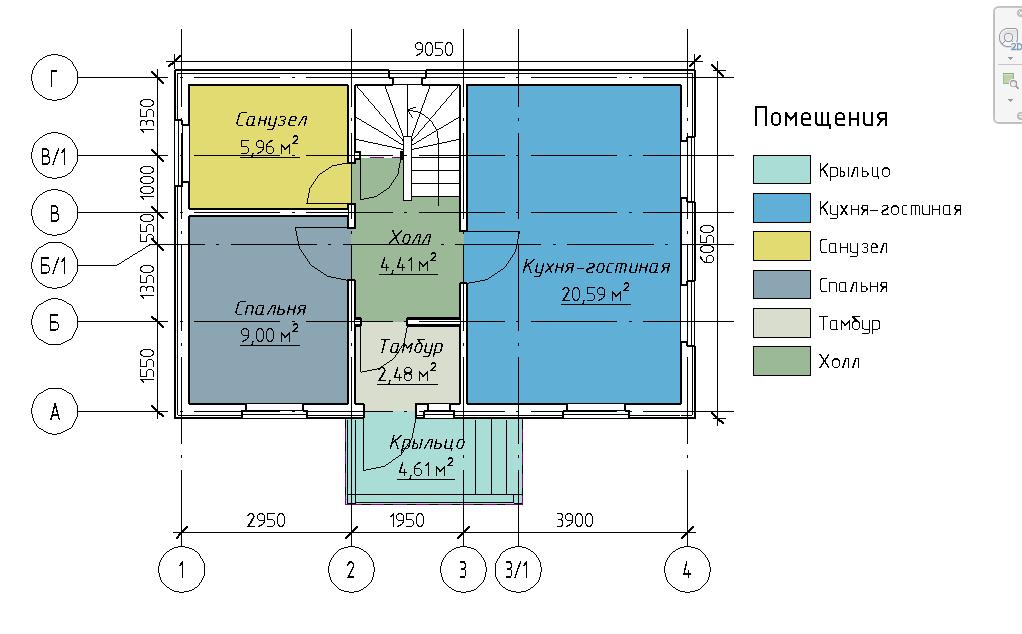 План первого этажа каркасного дома Линка 89