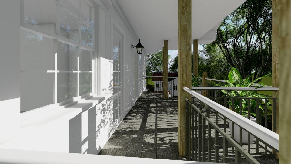 Балкон каркасного дома Техас 136