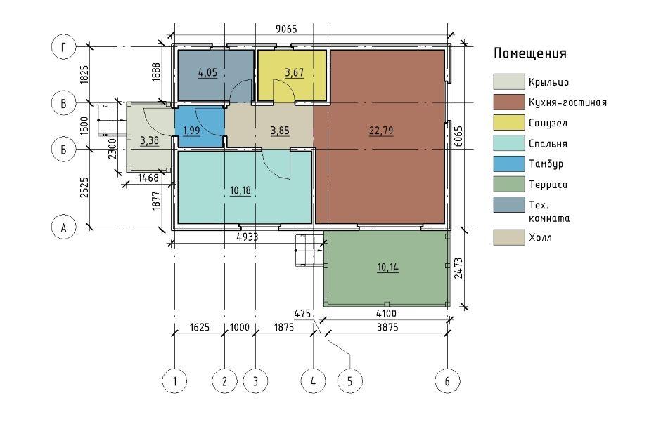 План каркасного дома Алабама 47