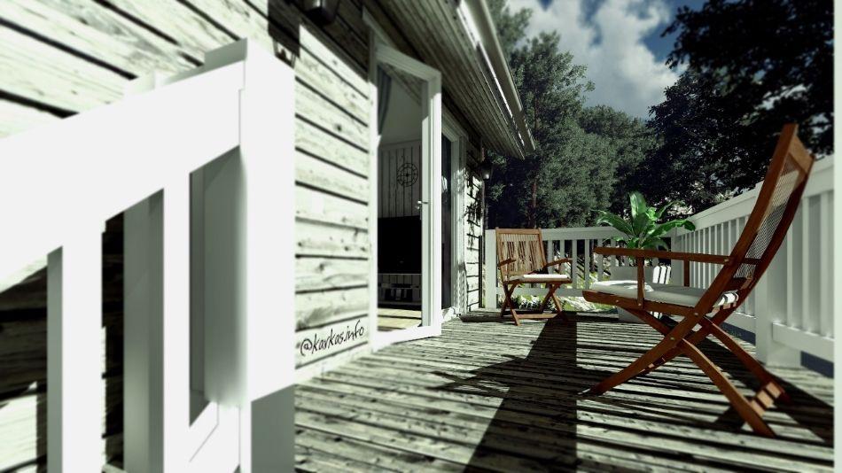 Терраса каркасного дома Алабама 47