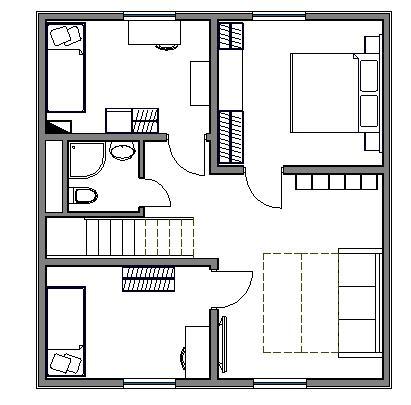 Вариант планировки второго этажа