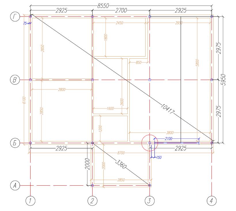 План свайного поля для проекта Дарина 67