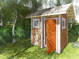 Дачный туалет, летний душ под одной крышей