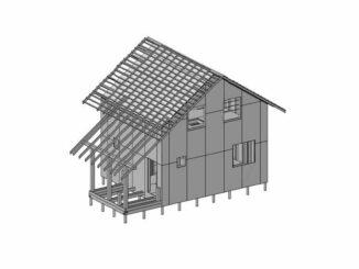 Каркасный дом КД-71