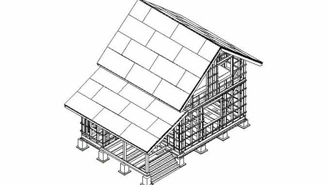 Каркасный дом КД-58 Plus