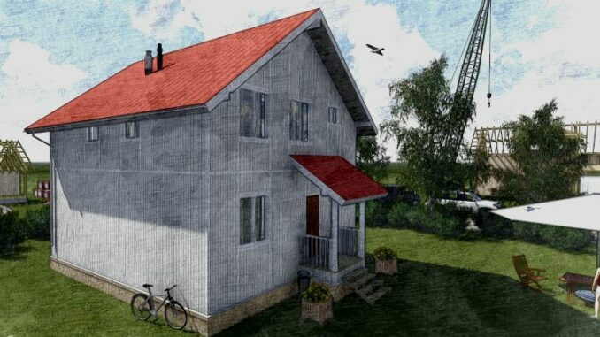 Каркасный дом Ямуга-115