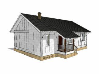 Каркасный дом Ховаярви 94