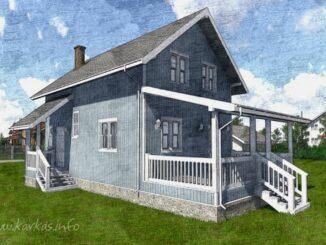 Каркасный дом Лаута 90