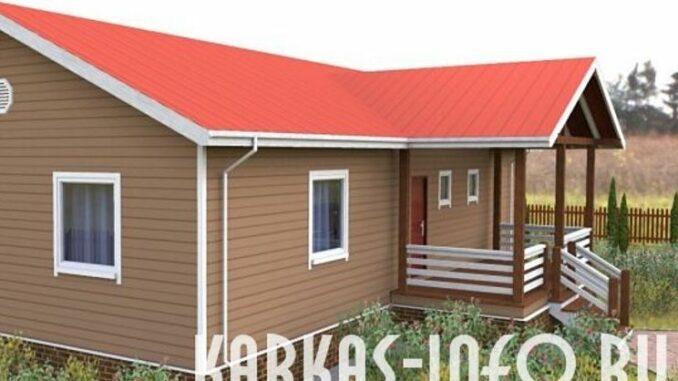 Каркасный дом пинега 102