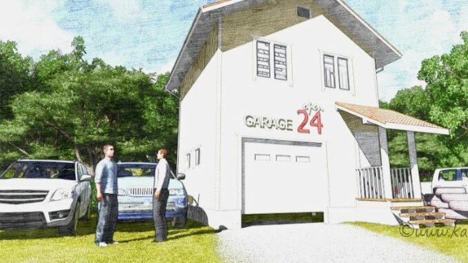 Каркасный гараж Орегон 61