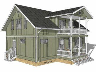 Каркасный дом Луизиана 175
