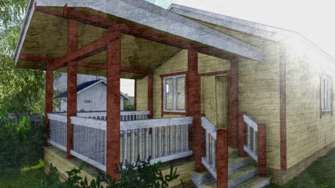 Каркасный дом Юта 40
