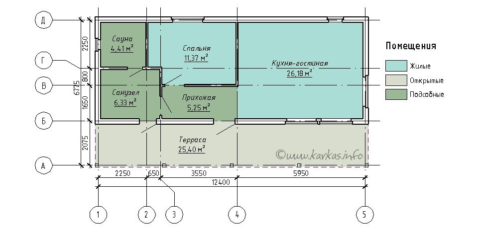 План каркасного дома Делавер 53