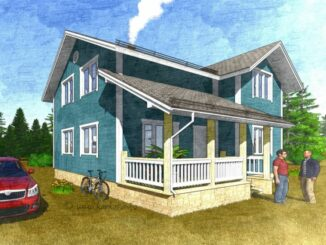 Каркасный дом Коламбия 110