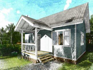 Каркасный дом Дарина 67