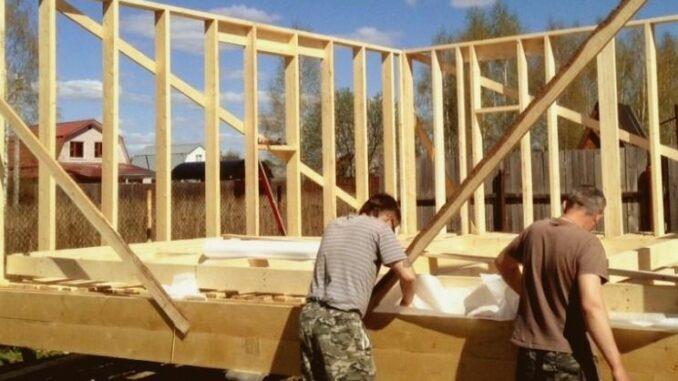 Фотоотчет о строительстве каркасного дома Опта 29