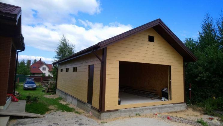 Готовый гараж-мастерская
