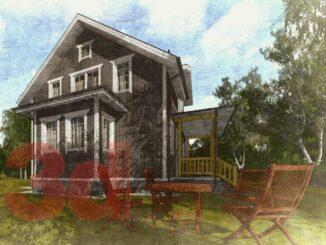 Каркасный дом Улвила 156