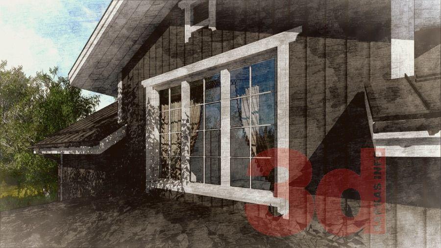Мансарда каркасного дома Улвила 156