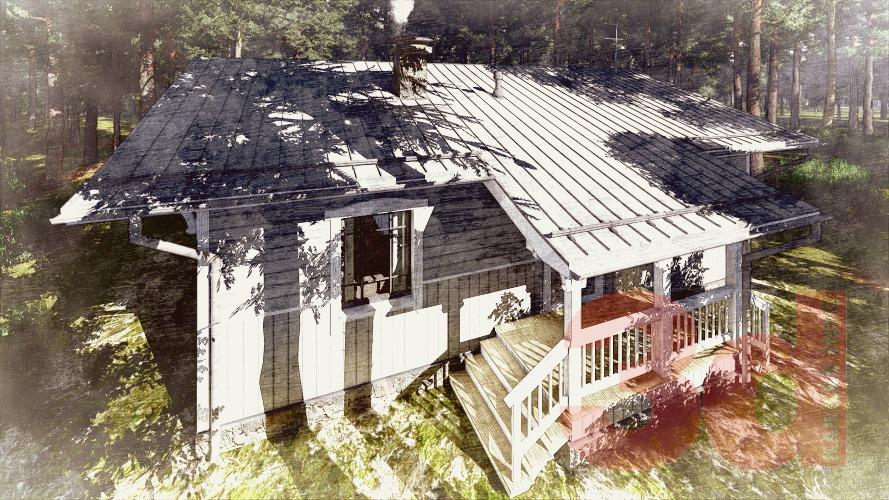 Вид каркасного дома Велегож 71