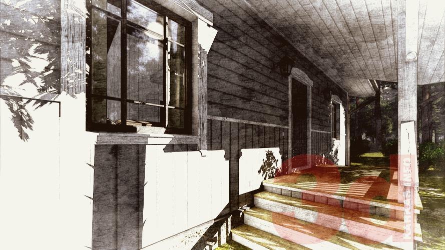 Вид террасы каркасного дома Велегож 71