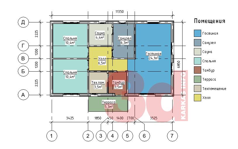 План каркасного дома Айова 69