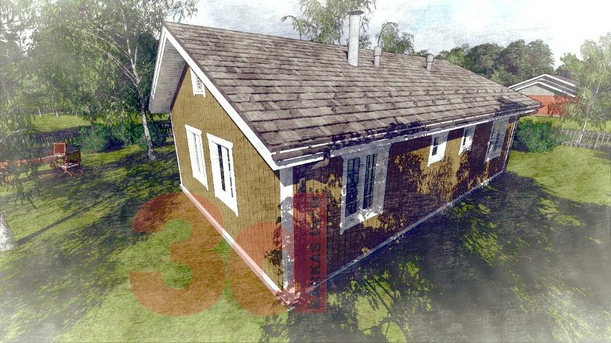 Вид каркасного дома Айова 69
