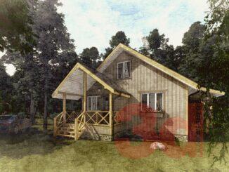 Проект каркасного дома Кд-104