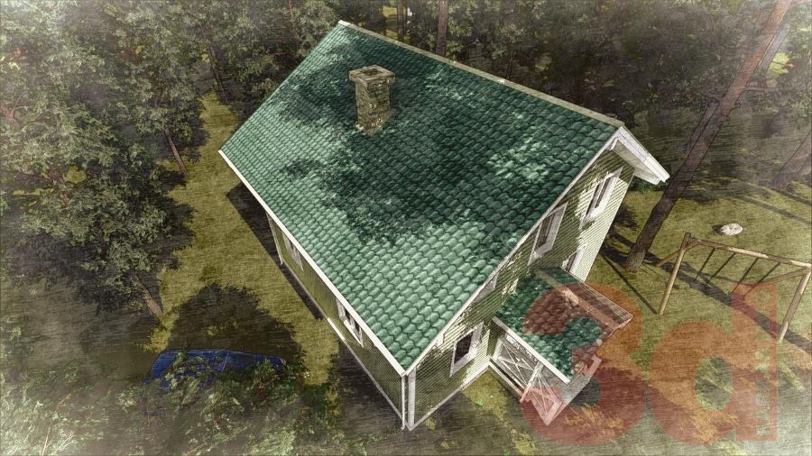 Проект каркасного дома Ямуга 124